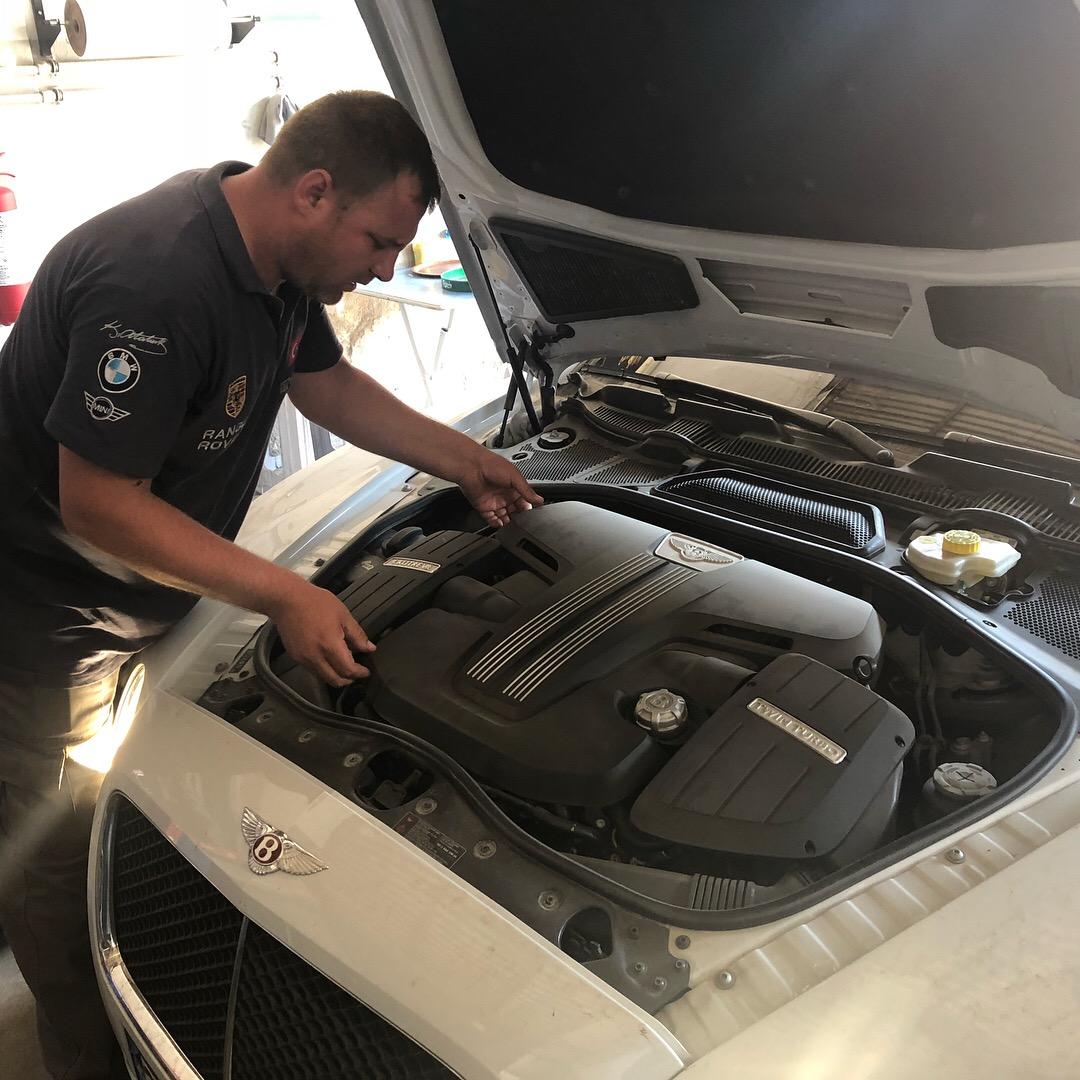 İzmir Bentley Periyodik Bakım, Motor Yağı, Yağ Filtresi, Hava Filtresi, Polen Filtresi ve Yakıt Filtresi Değişimi